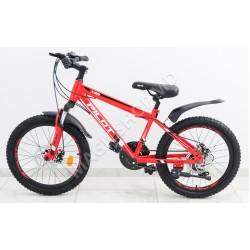 Bicicletă RTM MTB 20 (SHIMANO 18 viteze, anvelope-KENDA, frâne cu discuri) rosu