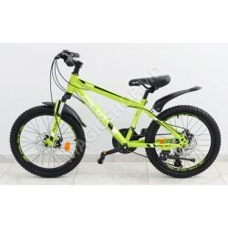 Bicicletă RTM MTB 20 (SHIMANO 18 viteze, anvelope-KENDA, frâne cu discuri) verde
