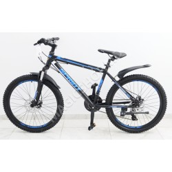 Bicicletă Sprint MTB 24 (SHIMANO 21 viteze, anvelope-KENDA, frâne cu discuri) albastru