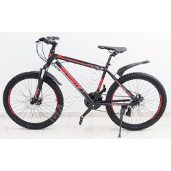 Bicicletă Sprint MTB 24 (SHIMANO 21 viteze, anvelope-KENDA, frâne cu discuri) rosu