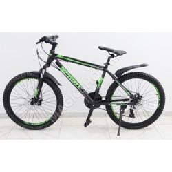 Bicicletă Sprint MTB 24 (SHIMANO 21 viteze, anvelope-KENDA, frâne cu discuri) verde
