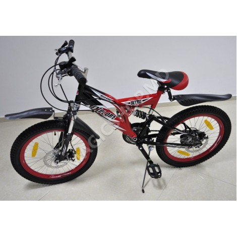 Bicicletă (SHIMANO, 18 viteze, 2 amortizatoare, frînă pe disc)