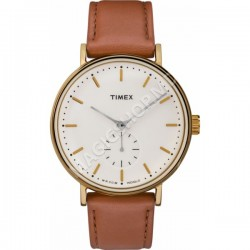 Ceas unisex Timex Fairfield Sub-Second 41mm Leather Strap Watch
