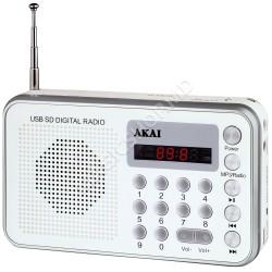 Radio Portabil AKAI DR002A-521 Alb