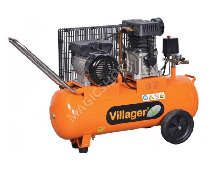Compresor Villager VAT LE 100 L portocaliu
