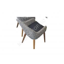 Scaun pentru gradina Dixon Dining (Grey) (56x60x81cm)