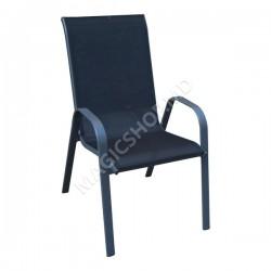 Scaun pentru gradina COMO (Black) (71x55x96cm)