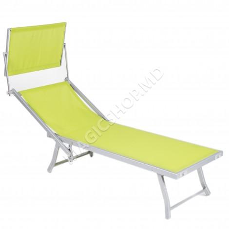 Sezlong Gardina Grup Bali Beach Green (380x610x1810mm)