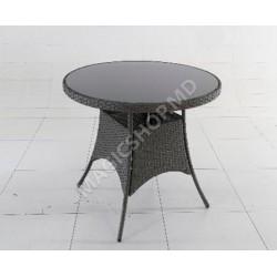 Masa Gardina Grup SANTIAGO (74x106x106cm) negru