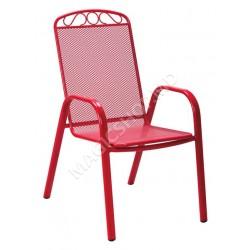 Scaun pentru gradina MELFI (Red) (71x55x101cm)