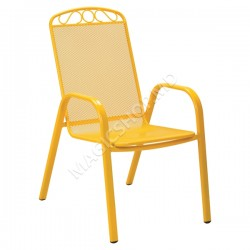 Scaun pentru gradina MELFI (Yellow) (71x55x101cm)