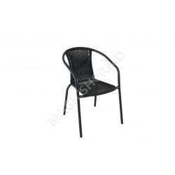 Scaun pentru gradina NAPOLI (Black) (53x58x77cm)