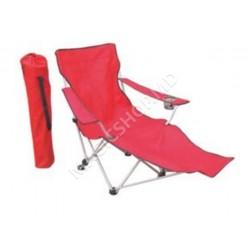 Scaun pliant pentru camping HS Vila (870x900x1130mm) rosu