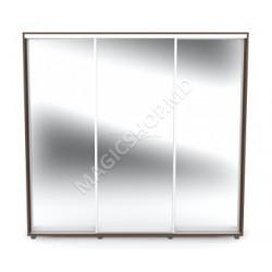 Dulap ISCom 2400 (3 glass) 226x60x240cm bej, maro
