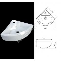 Lavoar coltar GA-2075 (130x330x330) alb
