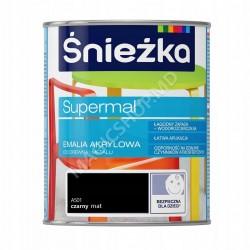 Email Acrilica, Sniezka Supermai A501 negru-Mata 0,8 L