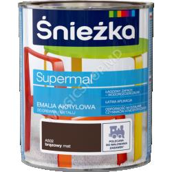 Email Acrilica, Sniezka Supermai A502 cafeniu-Mata 0,8 L