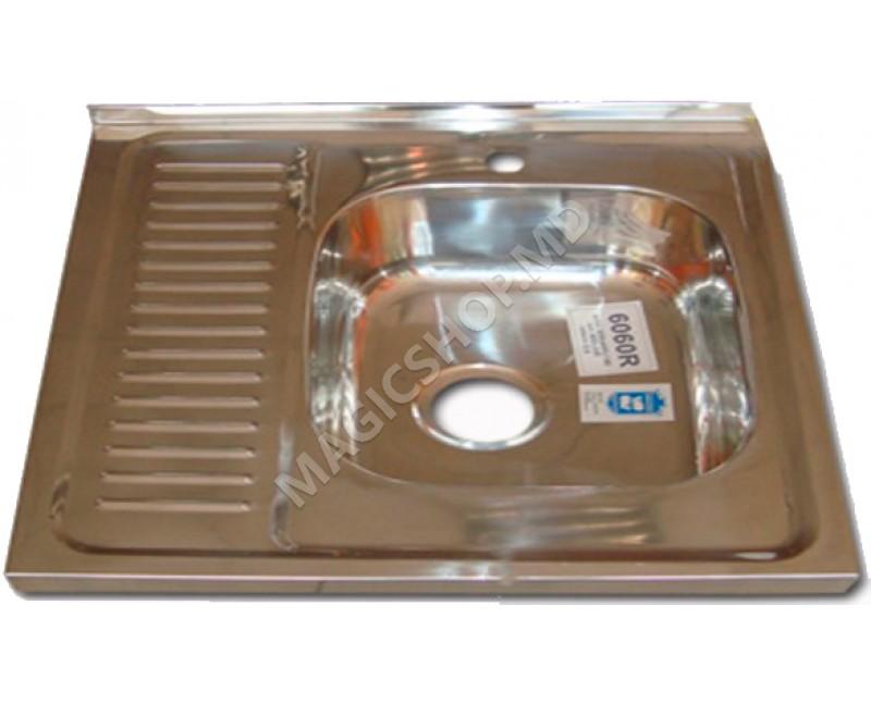 Chiuvetă Becky 50  80  BK  EPL  L inox 800x500 cm