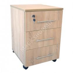 Tumba pentru birou DP RollBox Sonoma (400x450x750mm) bej