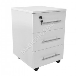 Tumba pentru birou DP RollBox White (400x450x600mm) alb