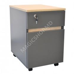 Tumba pentru birou DP RollBox Rio (400x550x600mm) gri