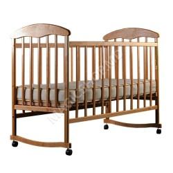 Pătuc pentru bebeluși (fără saltea) din lemn