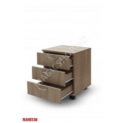 Dulapior cu trei sertare Mash Stejar sonoma 420x420x550