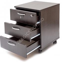 Dulapior cu trei sertare Mash Stejar cream 420x420x550
