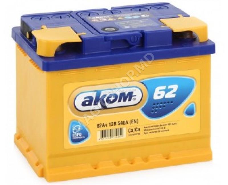 Acumulator AKOM 12V 62 Ah 550 A (EN)