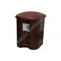 Urna pentru gunoi cu pedala Plastic Gogic 17 l maro
