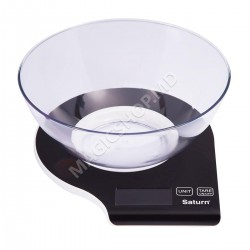 Cîntar de bucătărie SATURN ST-KS7803 Black alb, negru, verde